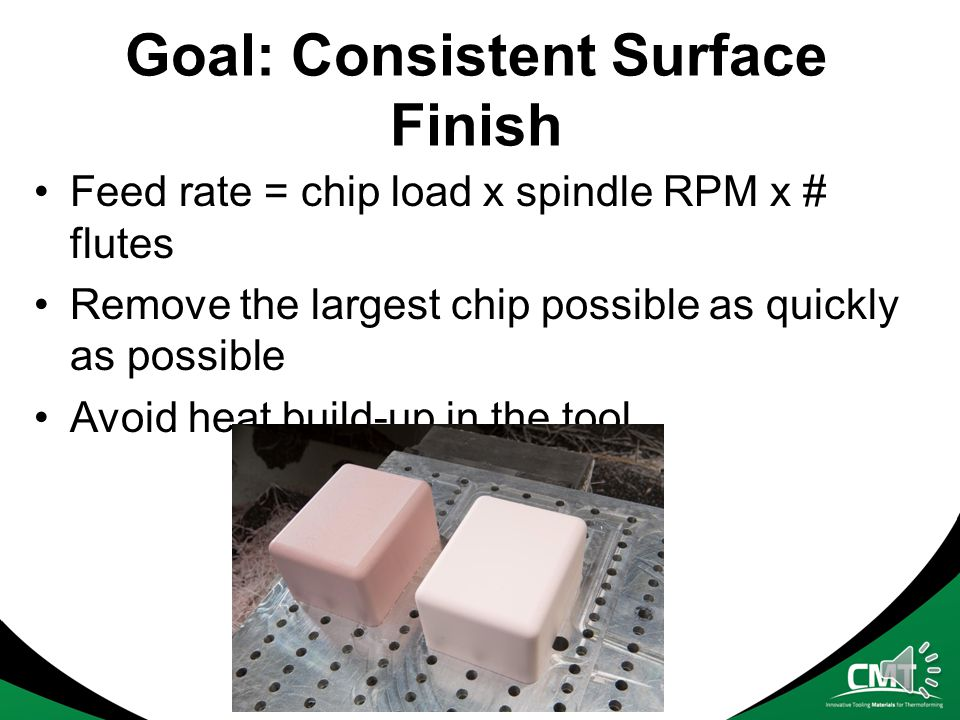Goal: Consistent Surface Finish