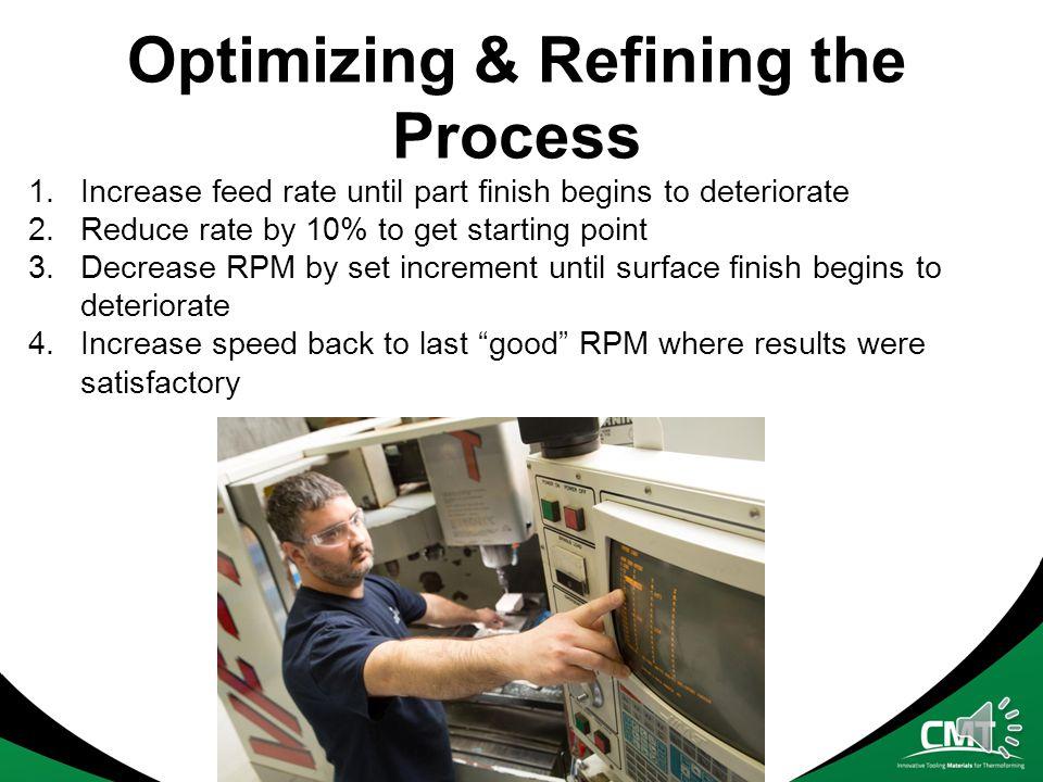 Optimizing & Refining the Process