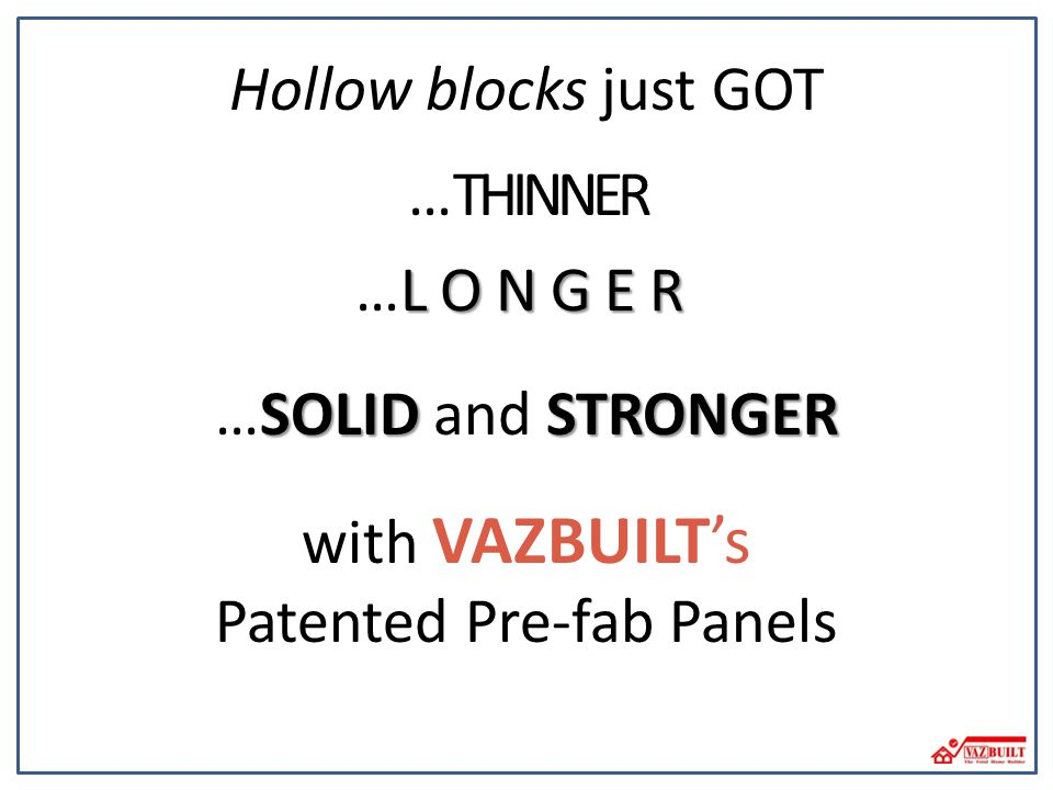 Patented Pre-fab Panels
