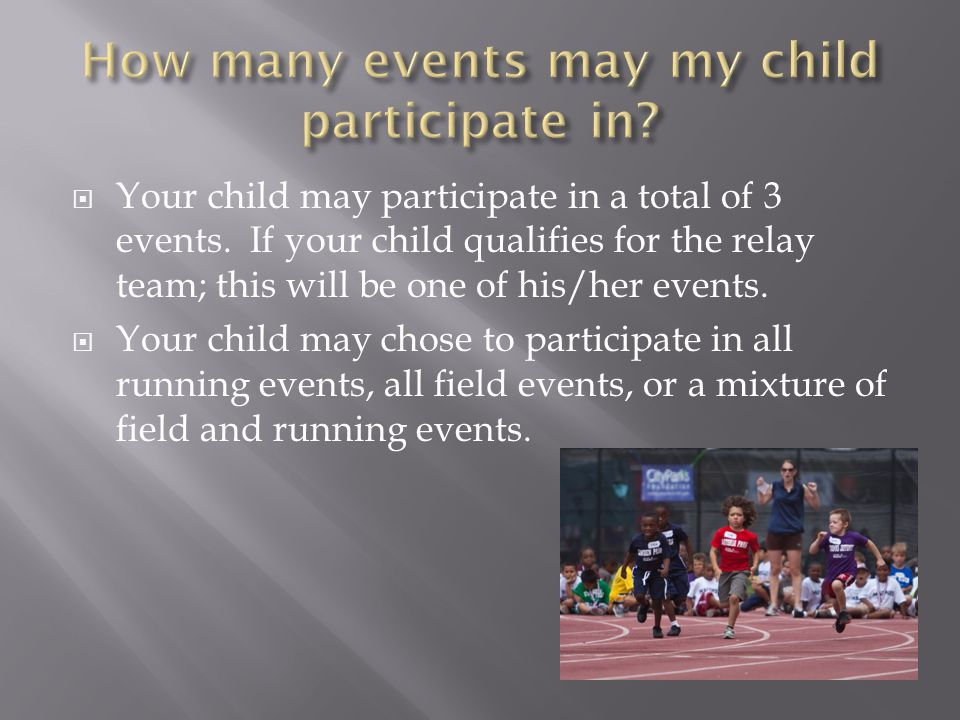 How many events may my child participate in