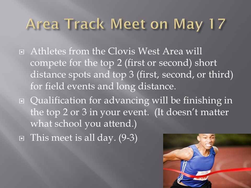 Area Track Meet on May 17