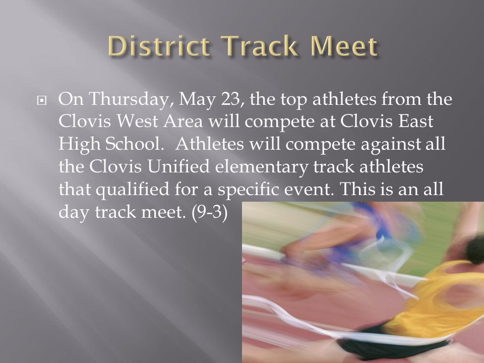 District Track Meet