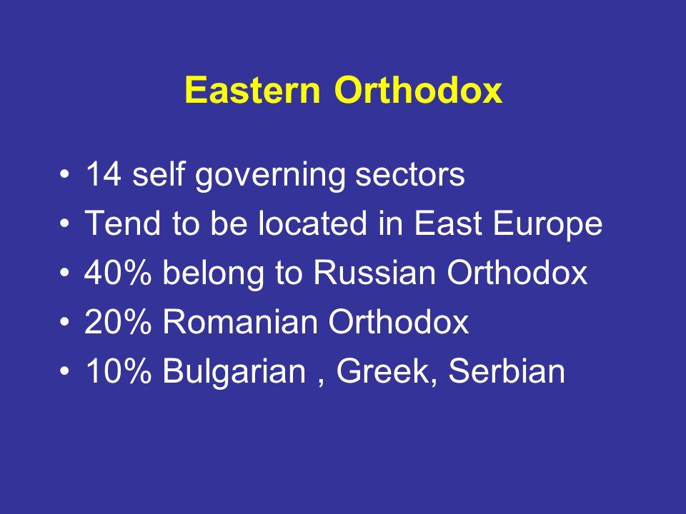 Eastern Orthodox 14 self governing sectors
