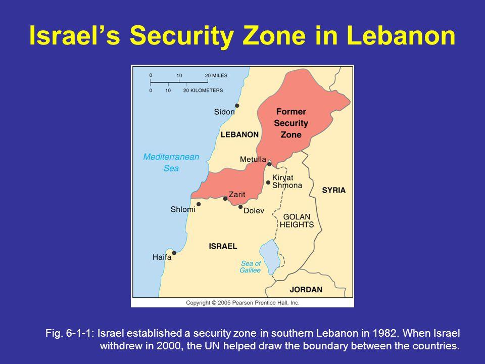 Israel's Security Zone in Lebanon