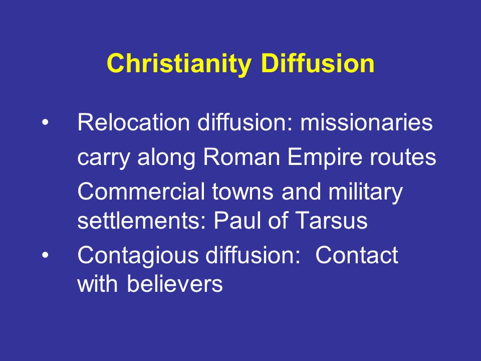 Christianity Diffusion
