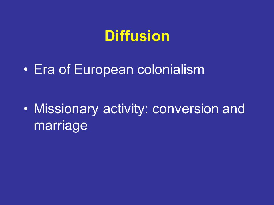 Diffusion Era of European colonialism