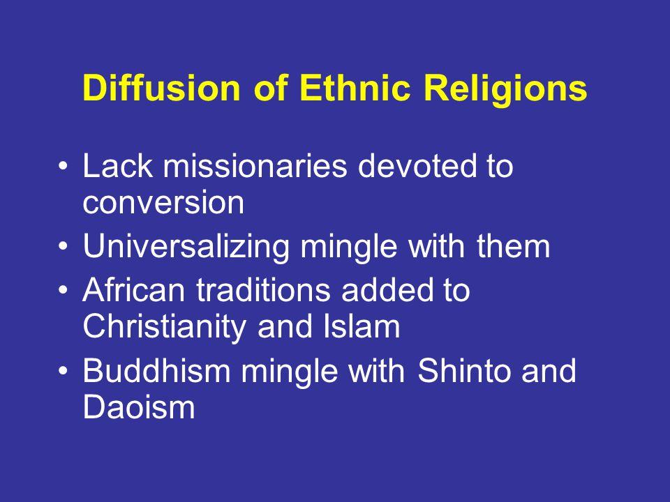 Diffusion of Ethnic Religions
