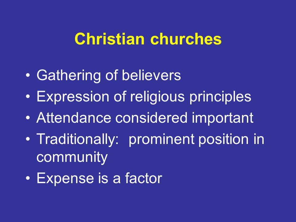 Christian churches Gathering of believers