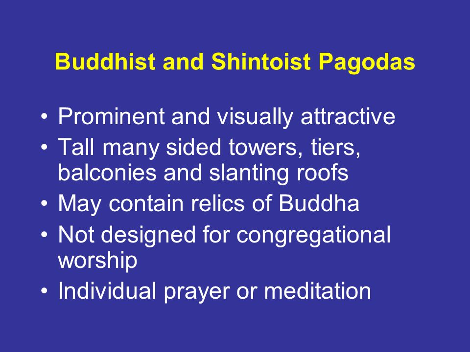 Buddhist and Shintoist Pagodas