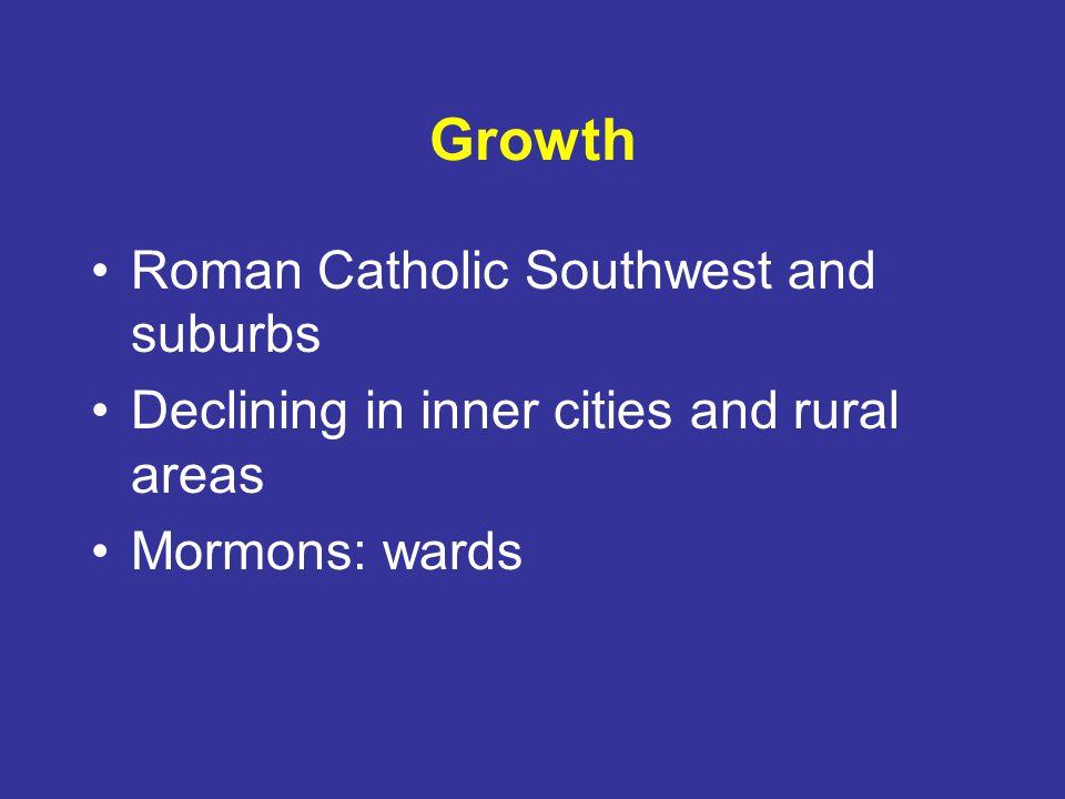 Growth Roman Catholic Southwest and suburbs