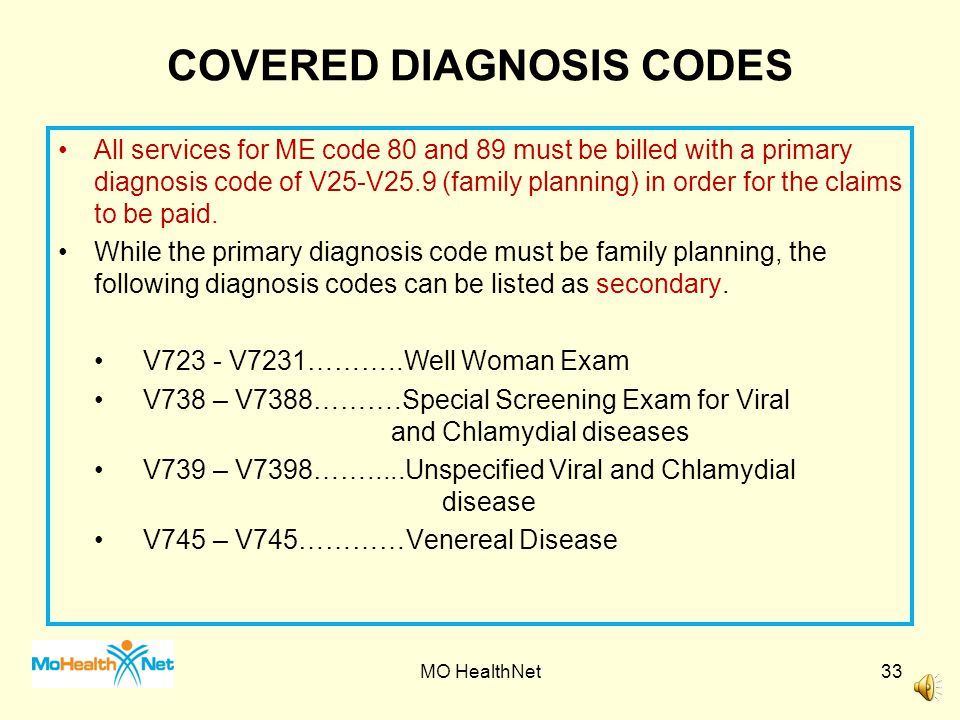COVERED DIAGNOSIS CODES