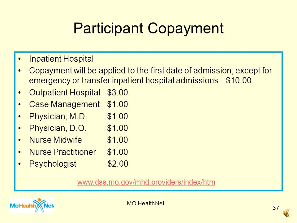 Participant Copayment