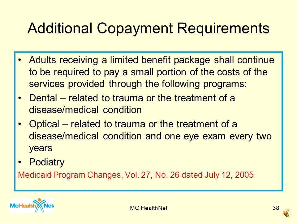 Additional Copayment Requirements