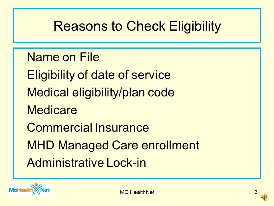 Reasons to Check Eligibility