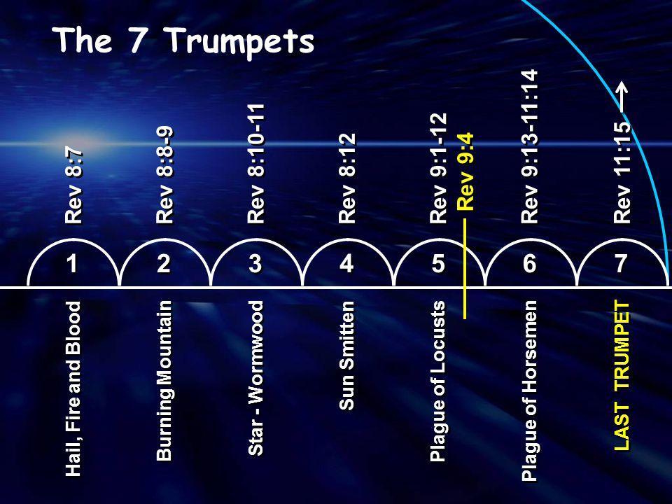 The 7 Trumpets 1 2 3 4 5 6 7 Rev 9:13-11:14 Rev 8:10-11 Rev 9:1-12