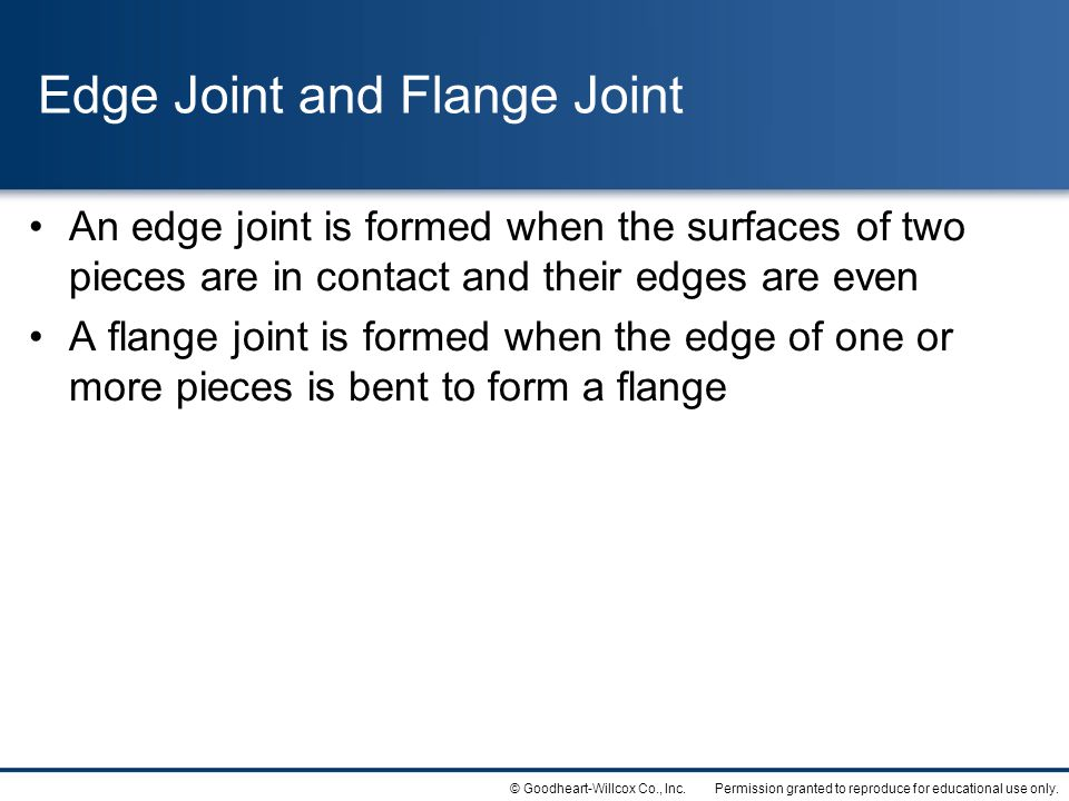 Edge Joint and Flange Joint