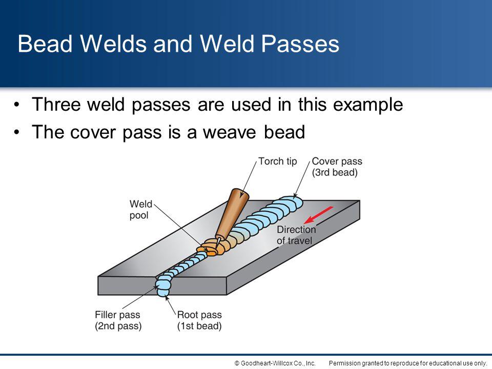 Bead Welds and Weld Passes