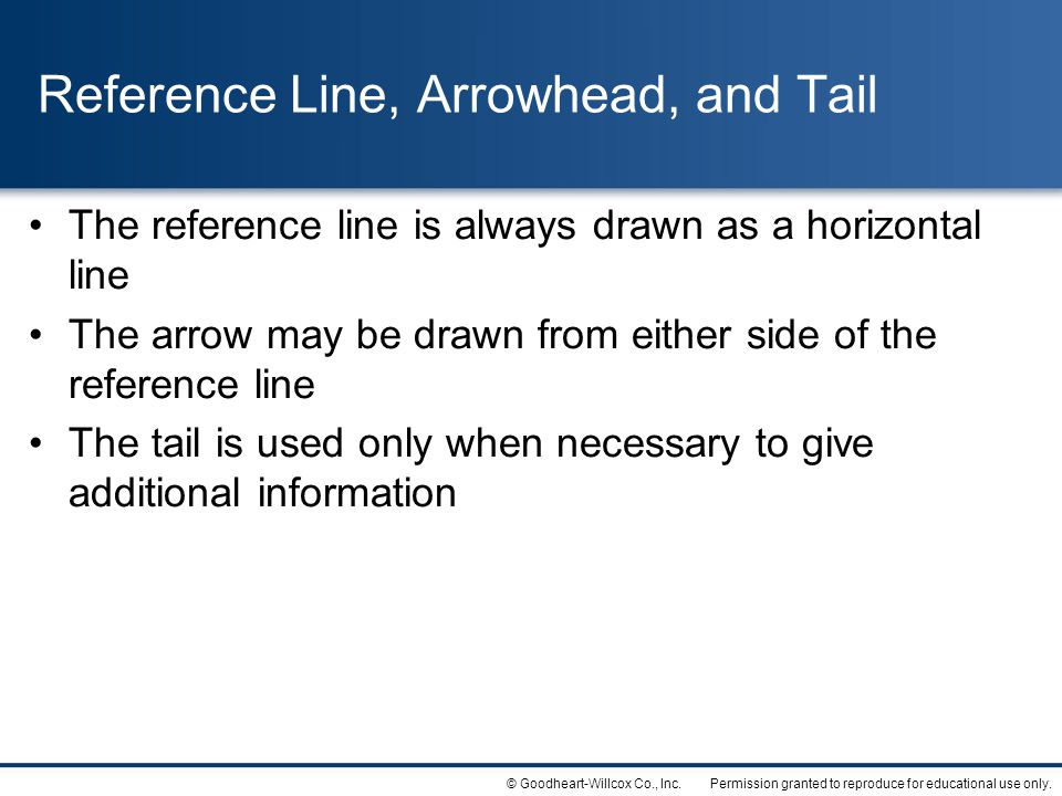 Reference Line, Arrowhead, and Tail