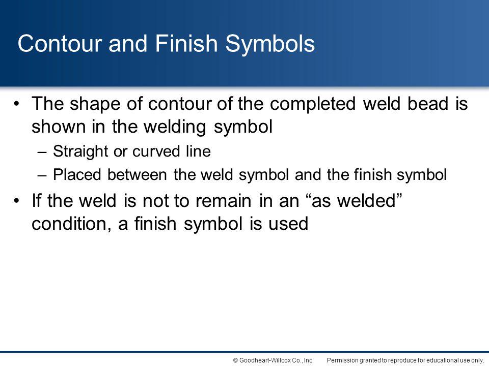 Contour and Finish Symbols