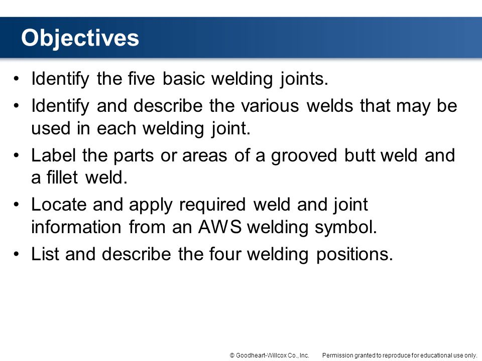 Identify the five basic welding joints.