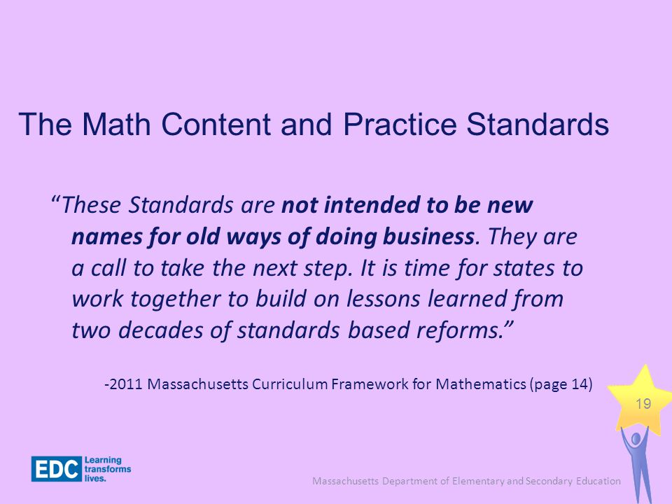 The Math Content and Practice Standards