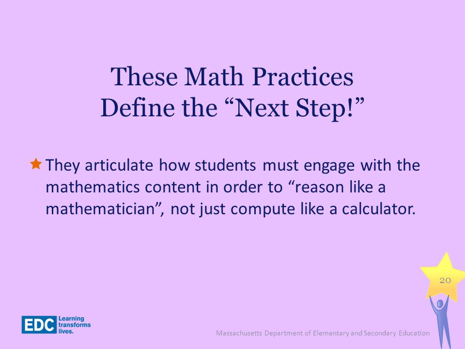 These Math Practices Define the Next Step!