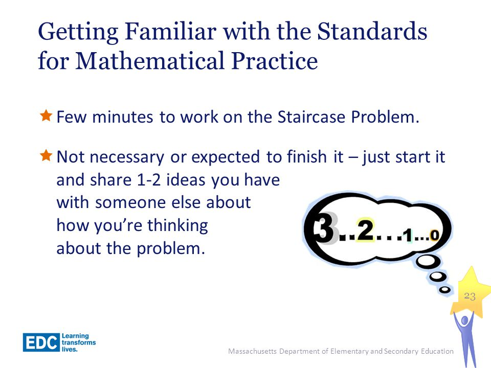 Getting Familiar with the Standards for Mathematical Practice
