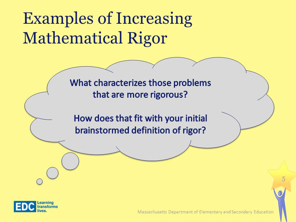 Examples of Increasing Mathematical Rigor