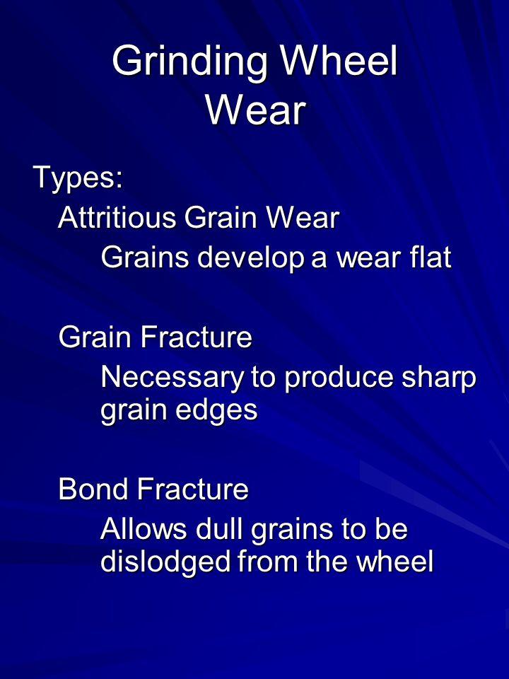 Grinding Wheel Wear Types: Attritious Grain Wear