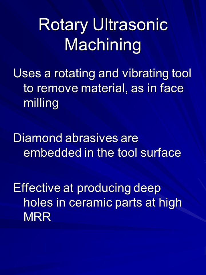 Rotary Ultrasonic Machining