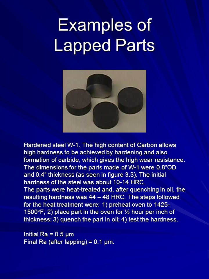 Examples of Lapped Parts