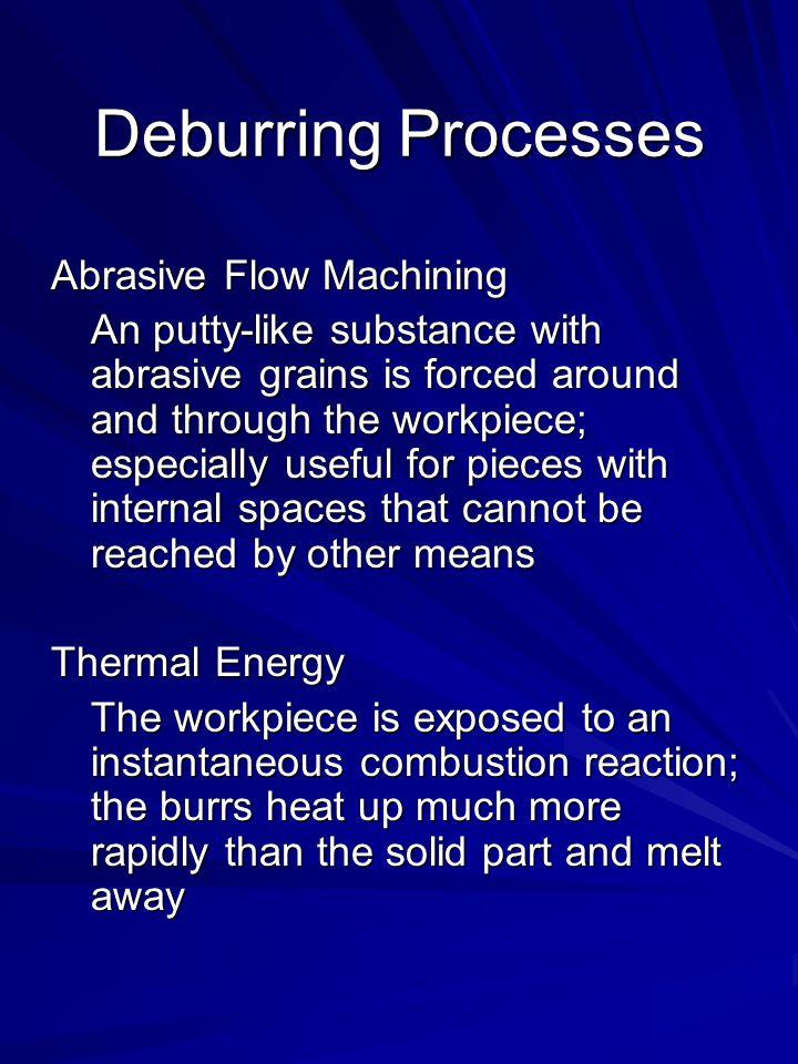 Deburring Processes Abrasive Flow Machining