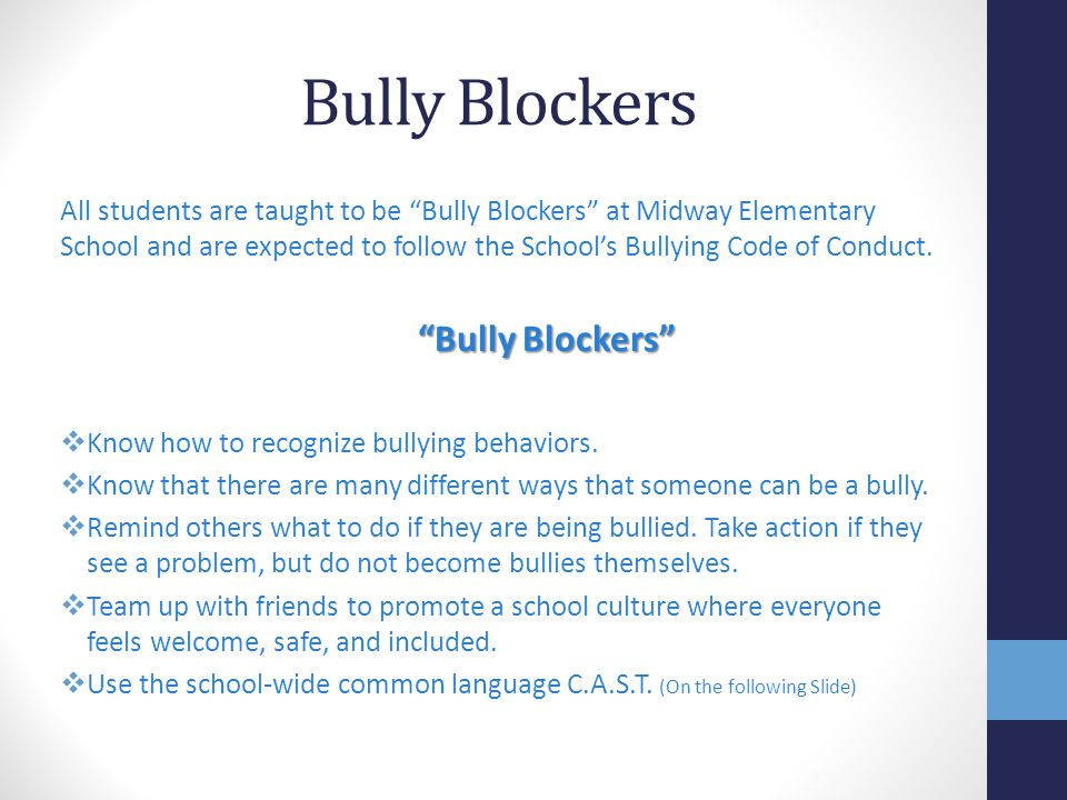 Bully Blockers