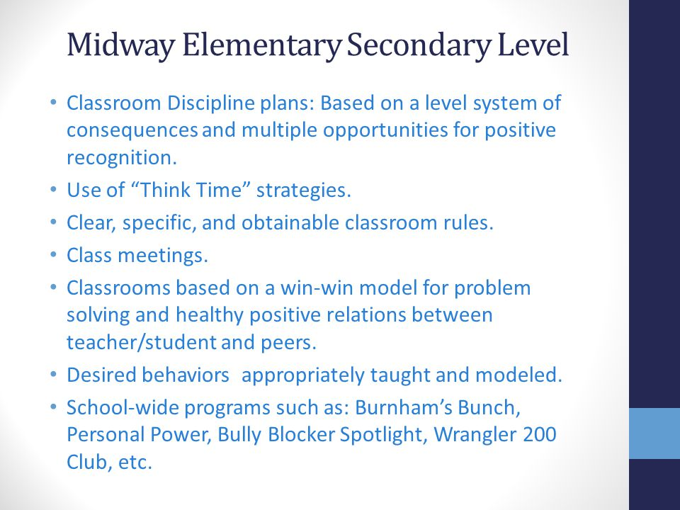 Midway Elementary Secondary Level