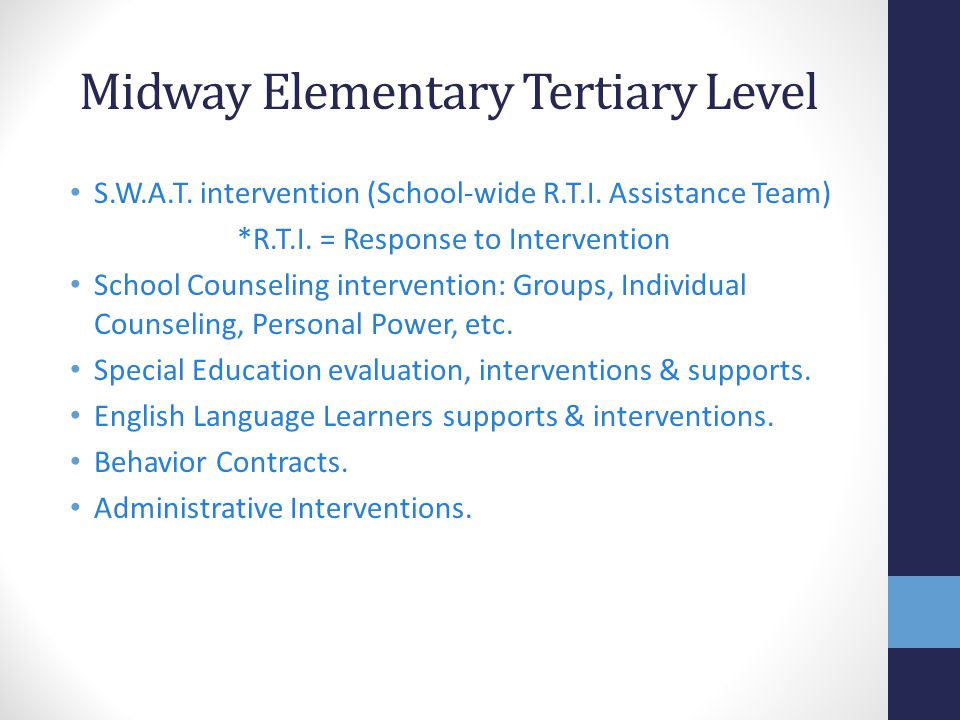 Midway Elementary Tertiary Level