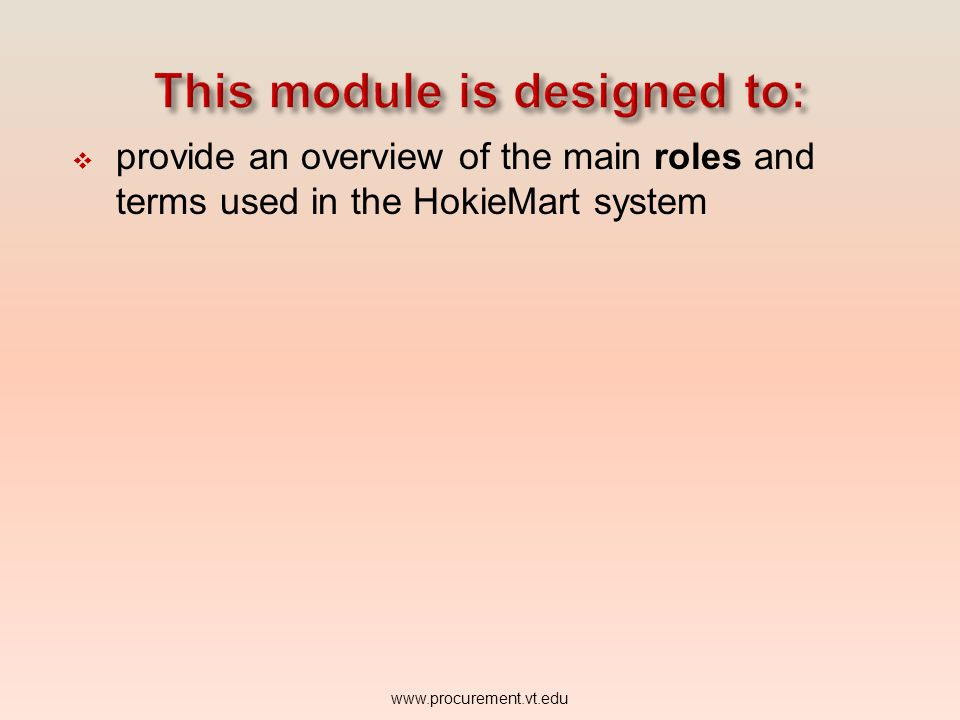 This module is designed to: