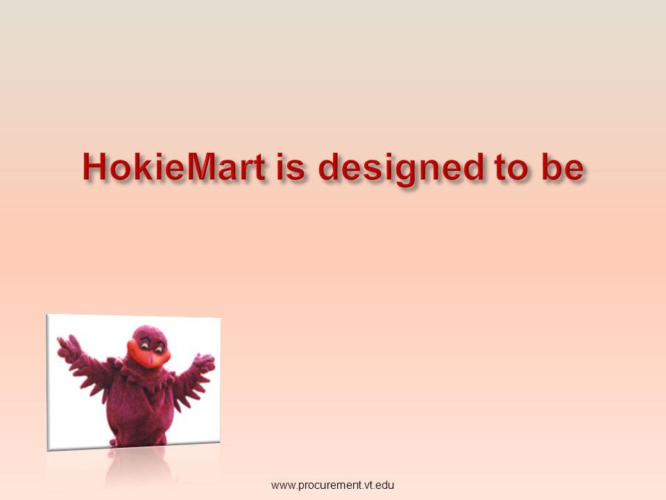 HokieMart is designed to be