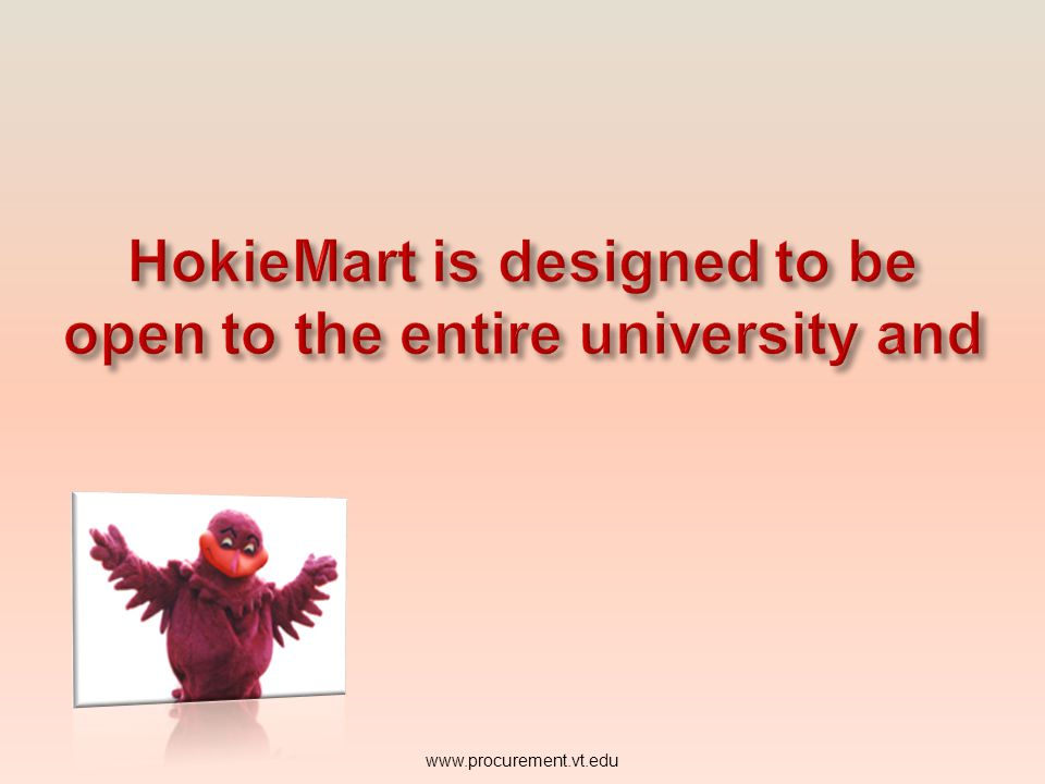HokieMart is designed to be open to the entire university and