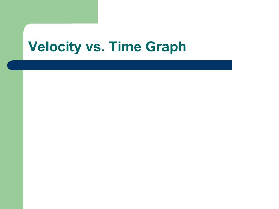 Velocity vs. Time Graph