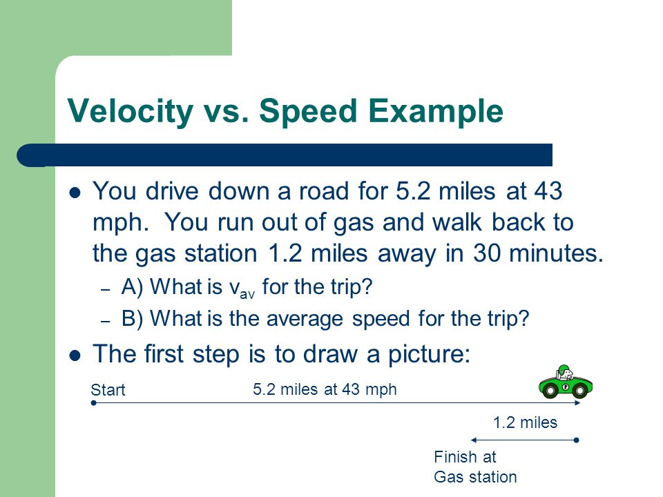 Velocity vs. Speed Example