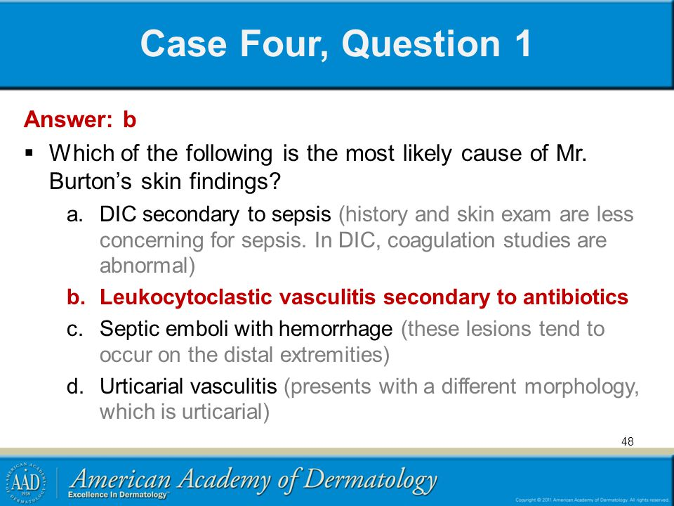 Case Four, Question 1 Answer: b