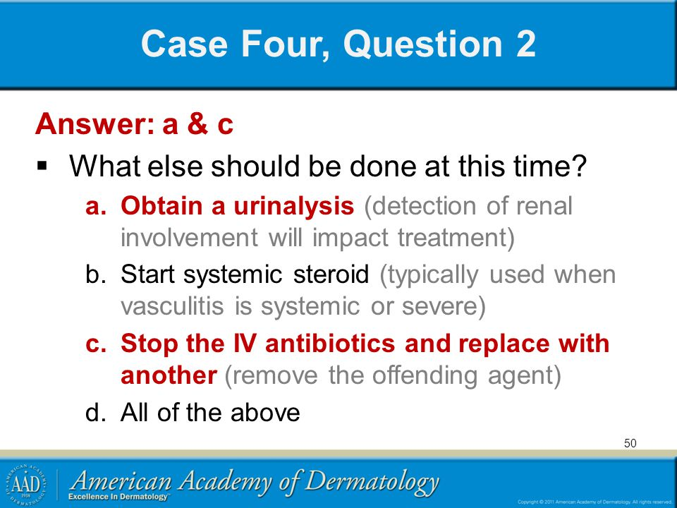 Case Four, Question 2 Answer: a & c