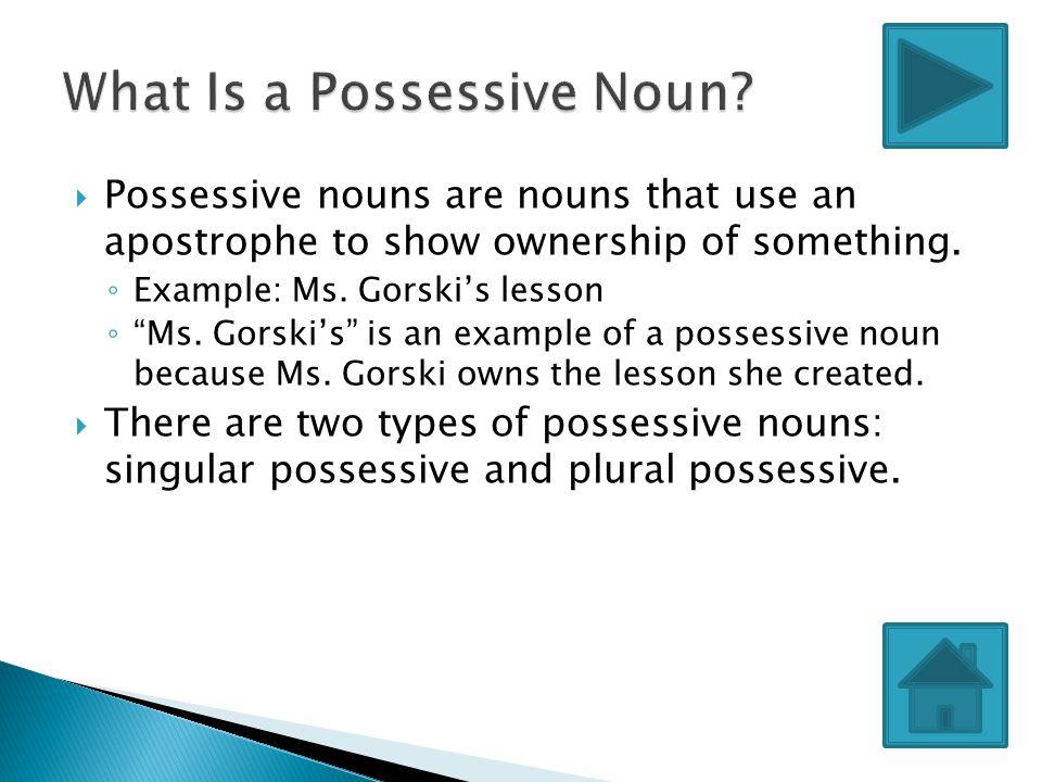 What Is a Possessive Noun
