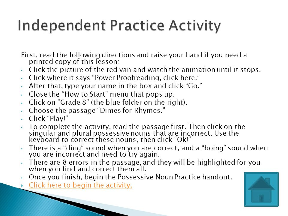 Independent Practice Activity