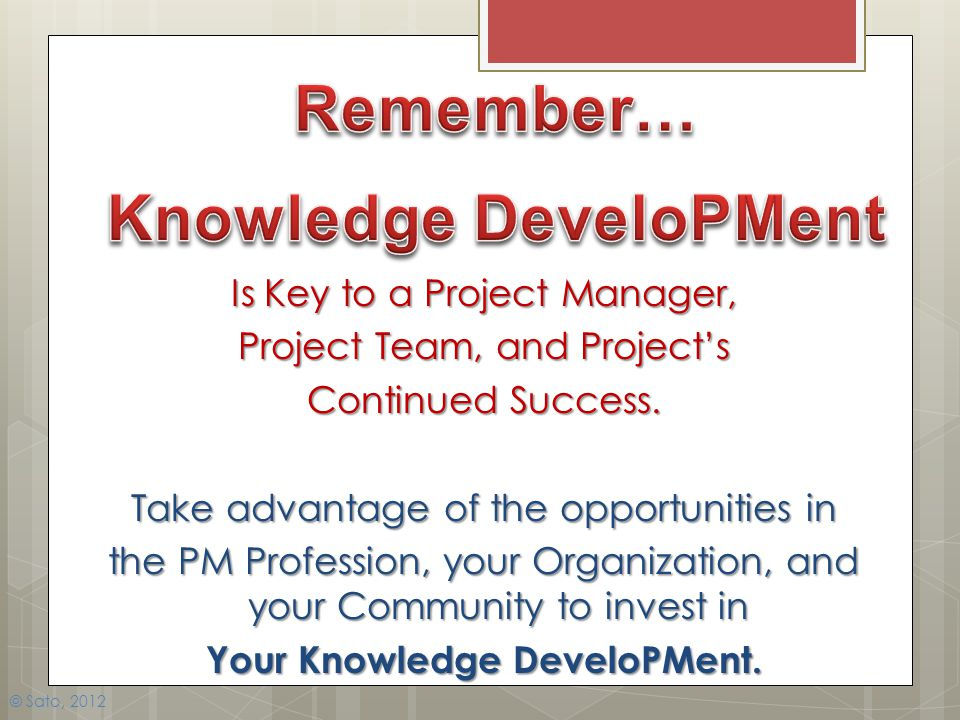 Knowledge DeveloPMent
