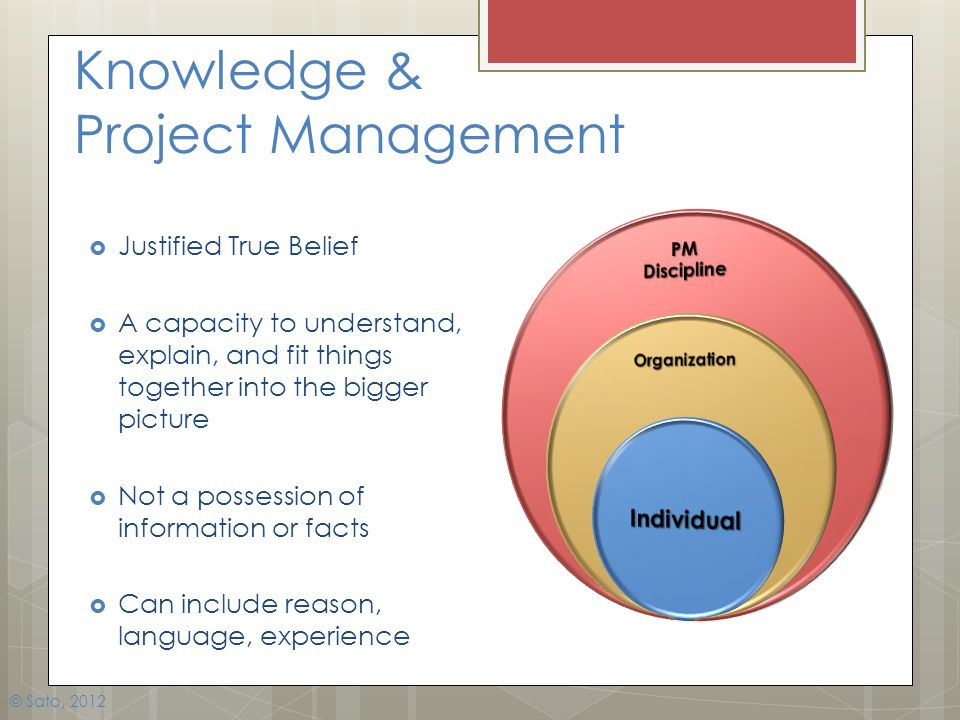 Knowledge & Project Management