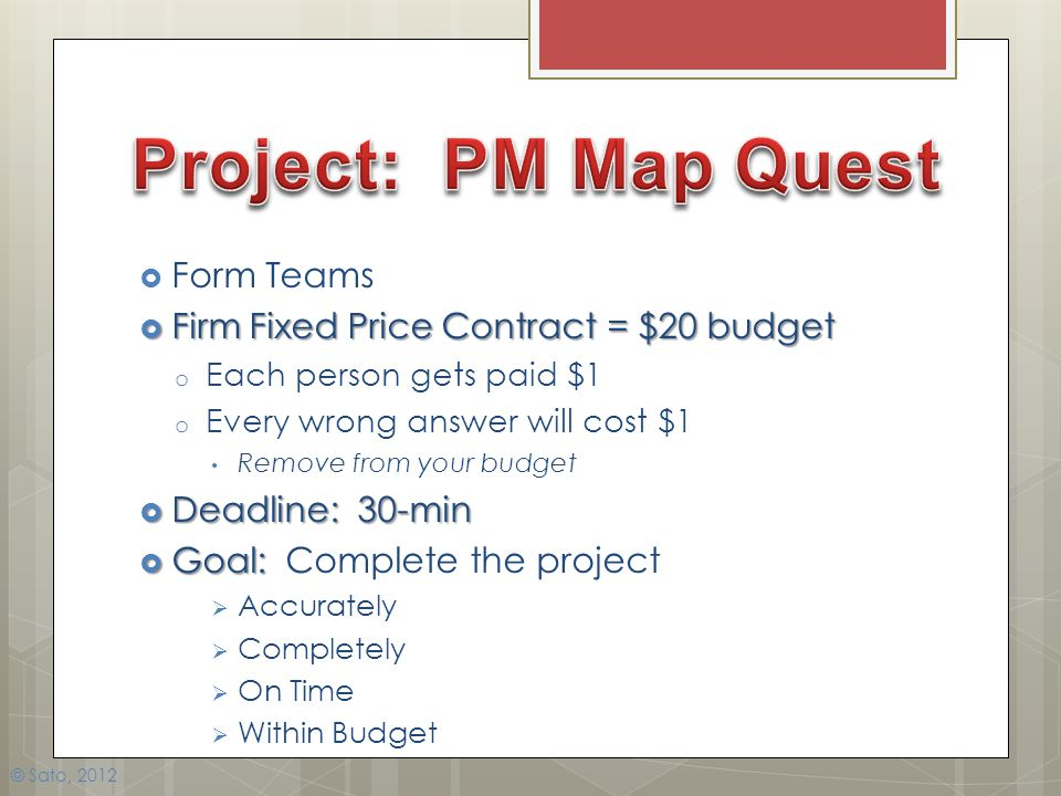 Project: PM Map Quest Form Teams