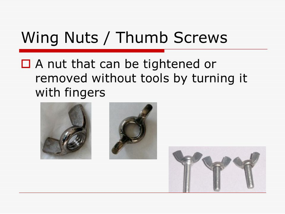 Wing Nuts / Thumb Screws