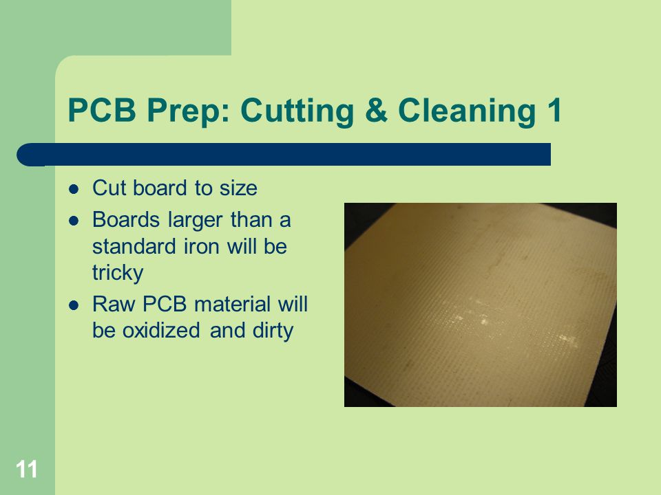 PCB Prep: Cutting & Cleaning 1
