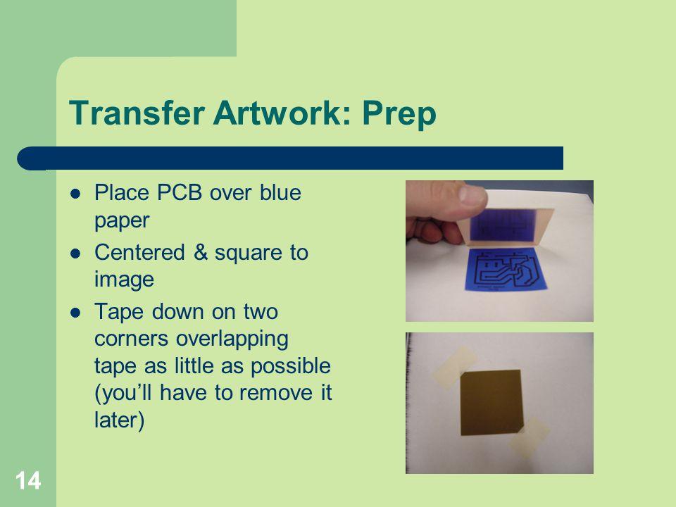 Transfer Artwork: Prep
